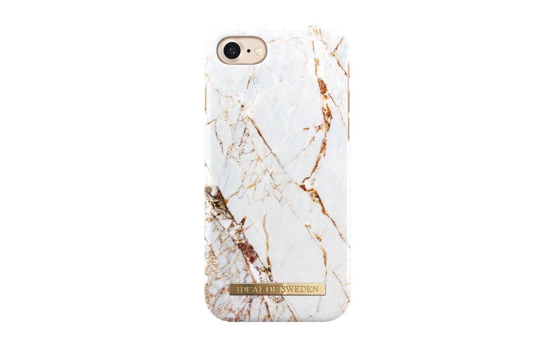 Trendigt mobilskal för iPhone 7 med lyxigt mönster av marmor med guld.  Magnetiskt kompatibelt skal d5d2370cea548