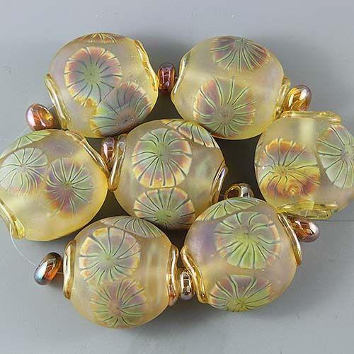 Ikuyoglassart Handmade Lampwork Glass Focal Bead Set SRA | eBay