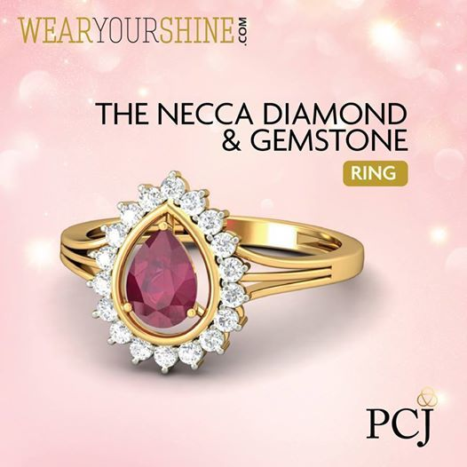 Diamond and ruby finger ring by PC Jewellers madhavi