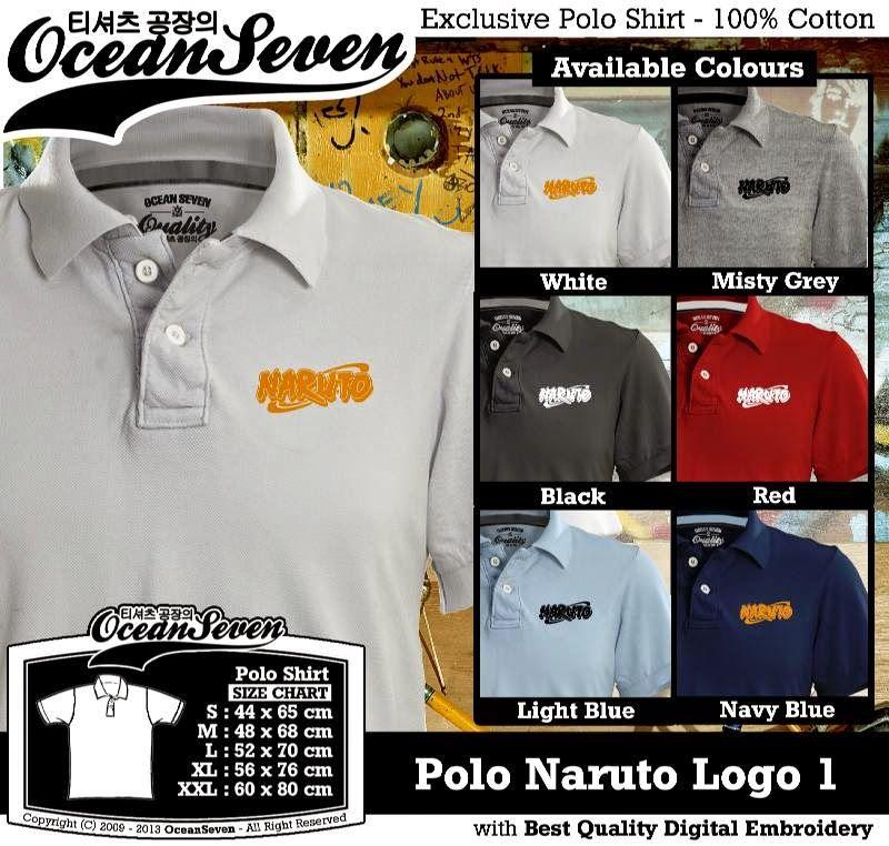 Kaos Polo Naruto Logo 1 Kaos Polo Exclusive Polo Shirt