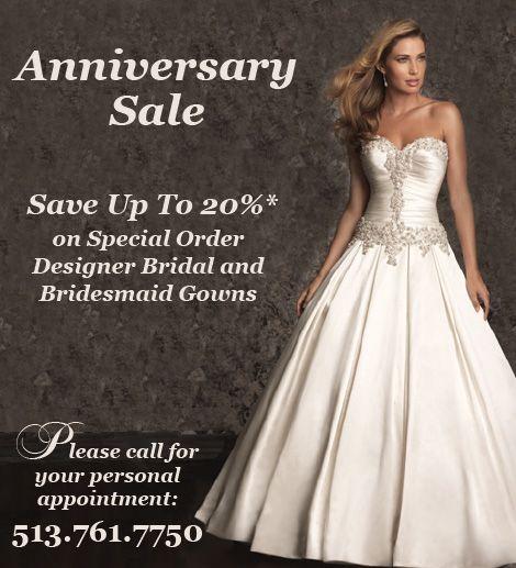 Wendys Cincinnati Bride Anniversary sale