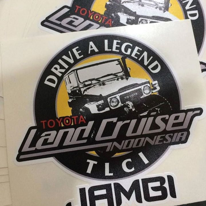 Custom sticker for our loyal customer from jambi thanks sir landcruiser fj