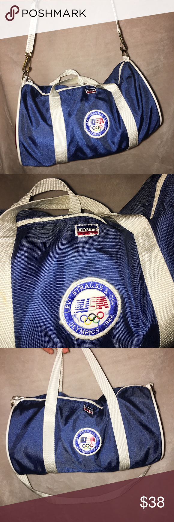 Vintage 1984 Team USA Olympics Duffle Bag! INSANE VINTAGE FIND 226bf5529b612