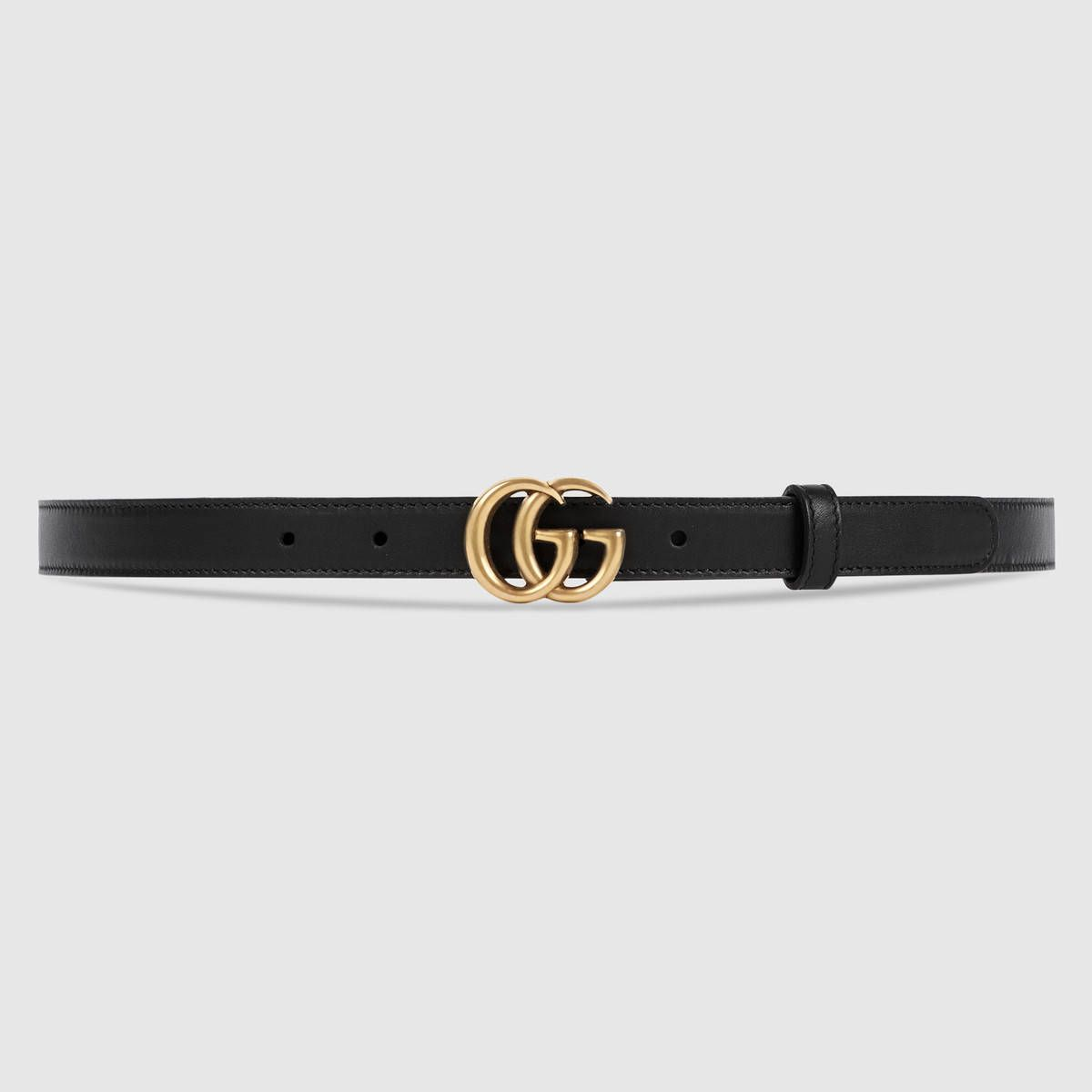 7bd11908256e Leather belt with double G buckle Ceinture Gucci Noir, Ceinture Gucci Femme,  Ceinture Femme