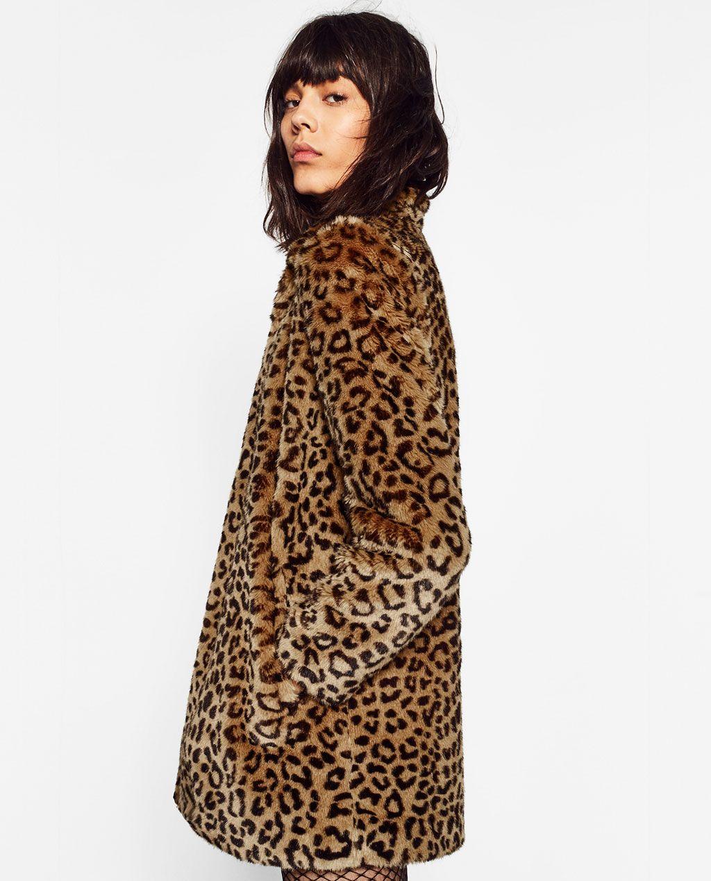 en venta 58310 20f38 ABRIGO PELO LEOPARDO | Animal Instinct | White faux fur coat ...