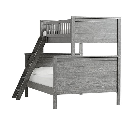 Charlie Bunk Bed Twin Over Full Smoked Charcoal In 2020