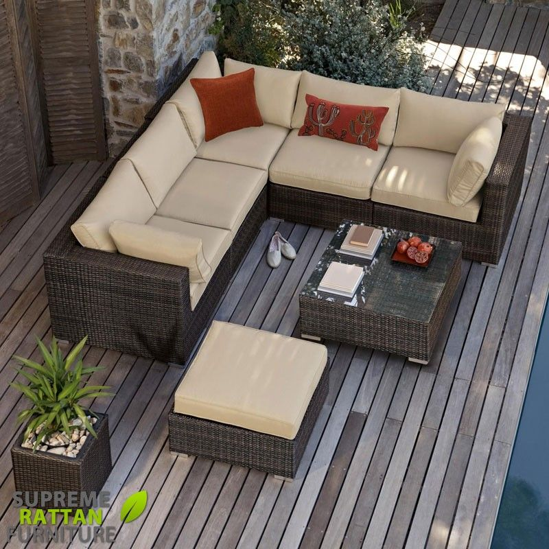 Maze Rattan - London Corner Sofa Set