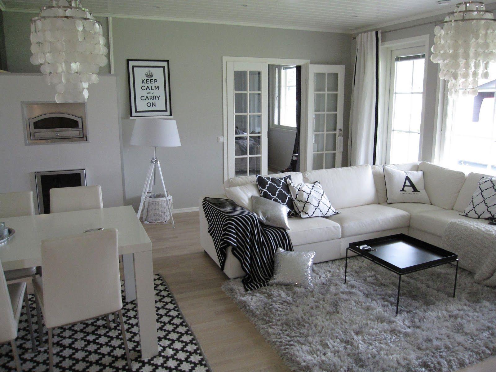 musta valkoinen sisustus google haku homeinspo pinterest wandfarben einrichten und. Black Bedroom Furniture Sets. Home Design Ideas