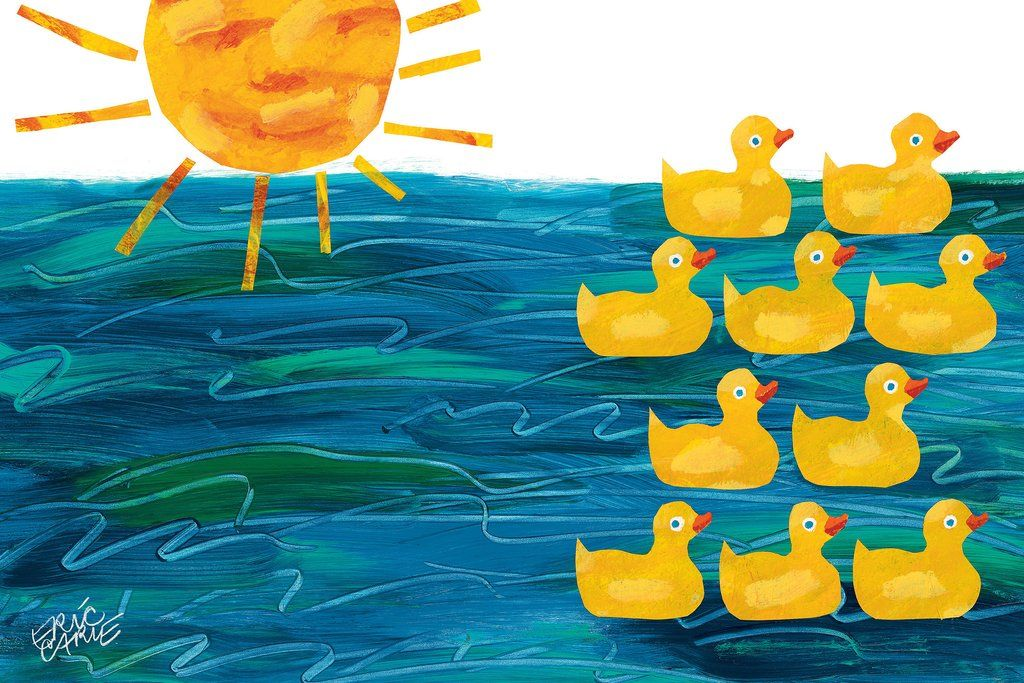 Little Rubber Ducks Canvas Art Art Character Art