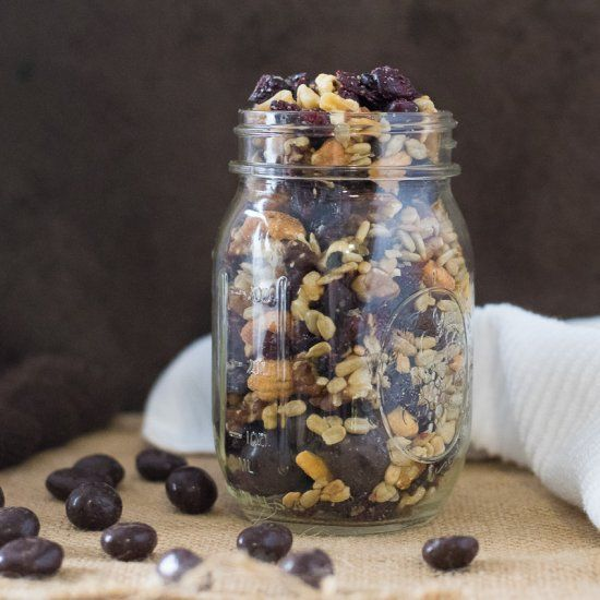 Blueberry Vanilla Trail Mix with Walnuts and Cashews
