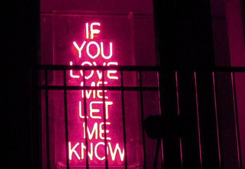 if you love me let me know
