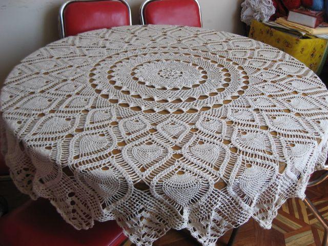 Manteles redondos a crochet patrones - Imagui | crochet miniatura ...
