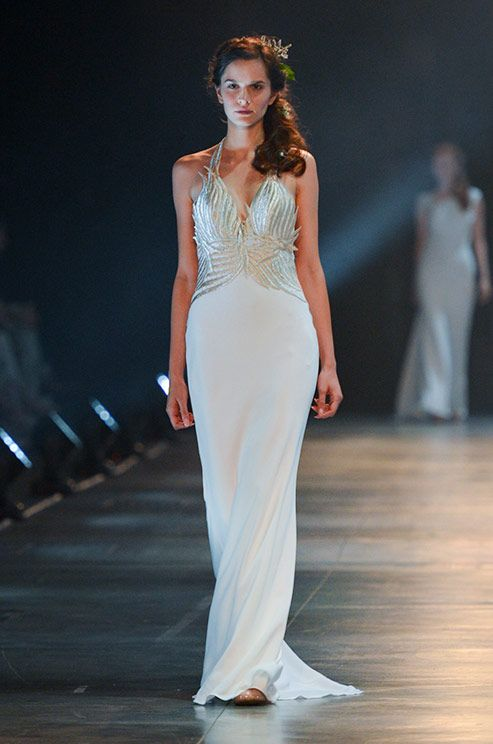 This stunning wedding dress exudes huge doses of glamour. David Fielden, 2014