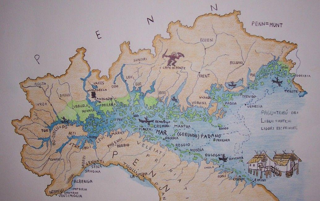 Cartina Mondo Ingrandita.Storia Lombarda I Primitivi Mappe Antiche Storia Cartografia