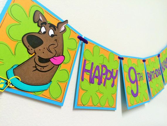 Scooby Doo Birthday Banner Banners Birthdays and Carnival parties