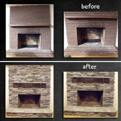 how to cover brick fireplace | Brick Fireplace Remodel | home ...