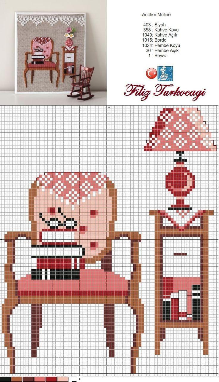 Sala de estar | etamin | Pinterest | Sala de estar, Punto de cruz y ...