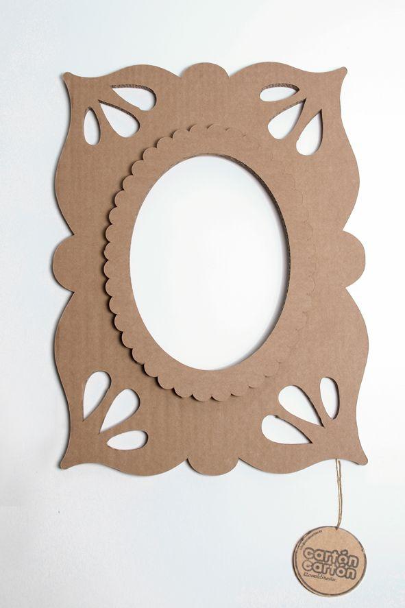 Marco #Vintage en #carton Este producto está realizado en cartón y ...