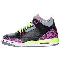 c827ea63c28e Girls  Grade School Air Jordan Retro 3 Basketball Shoes