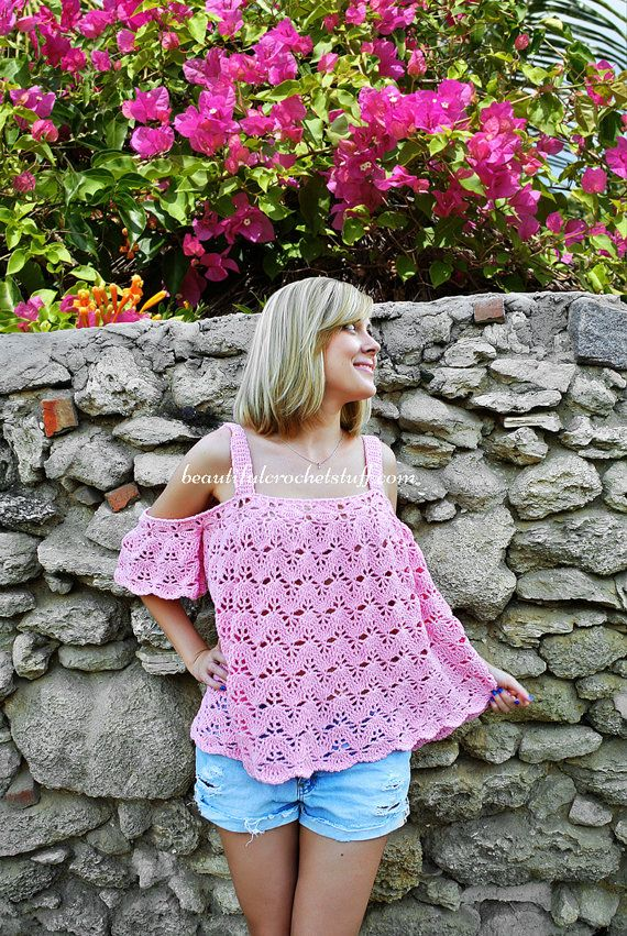a50290146e713d Off The Shoulder Crochet Top Pattern Off The Shoulder Crochet Blouse  Pattern Plus Size Crochet Pattern Waterfall Sleeve Tunic Crochet Tunic