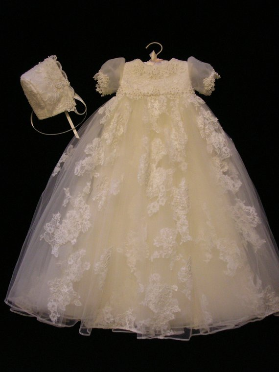 da80547e8a9e Nicole's Custom Christening or Baptism Gown made to order from your Wedding  Dress