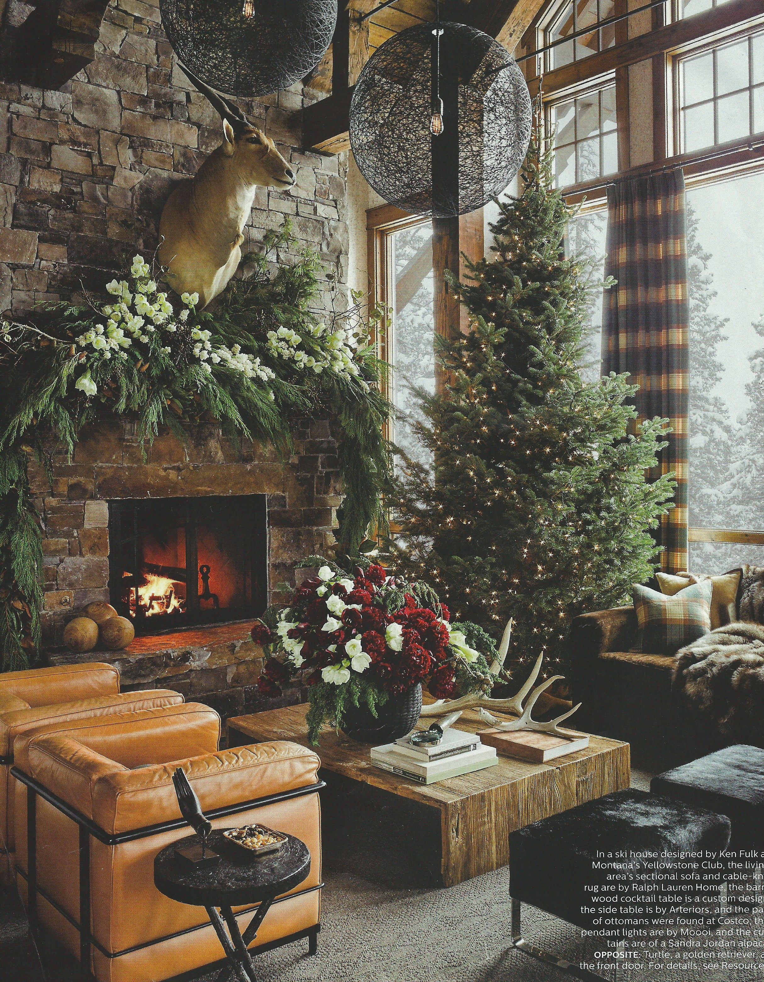 this montana resort home designed by ken fulk and featured on the cover of the december issue of elle decor is not what im typicall