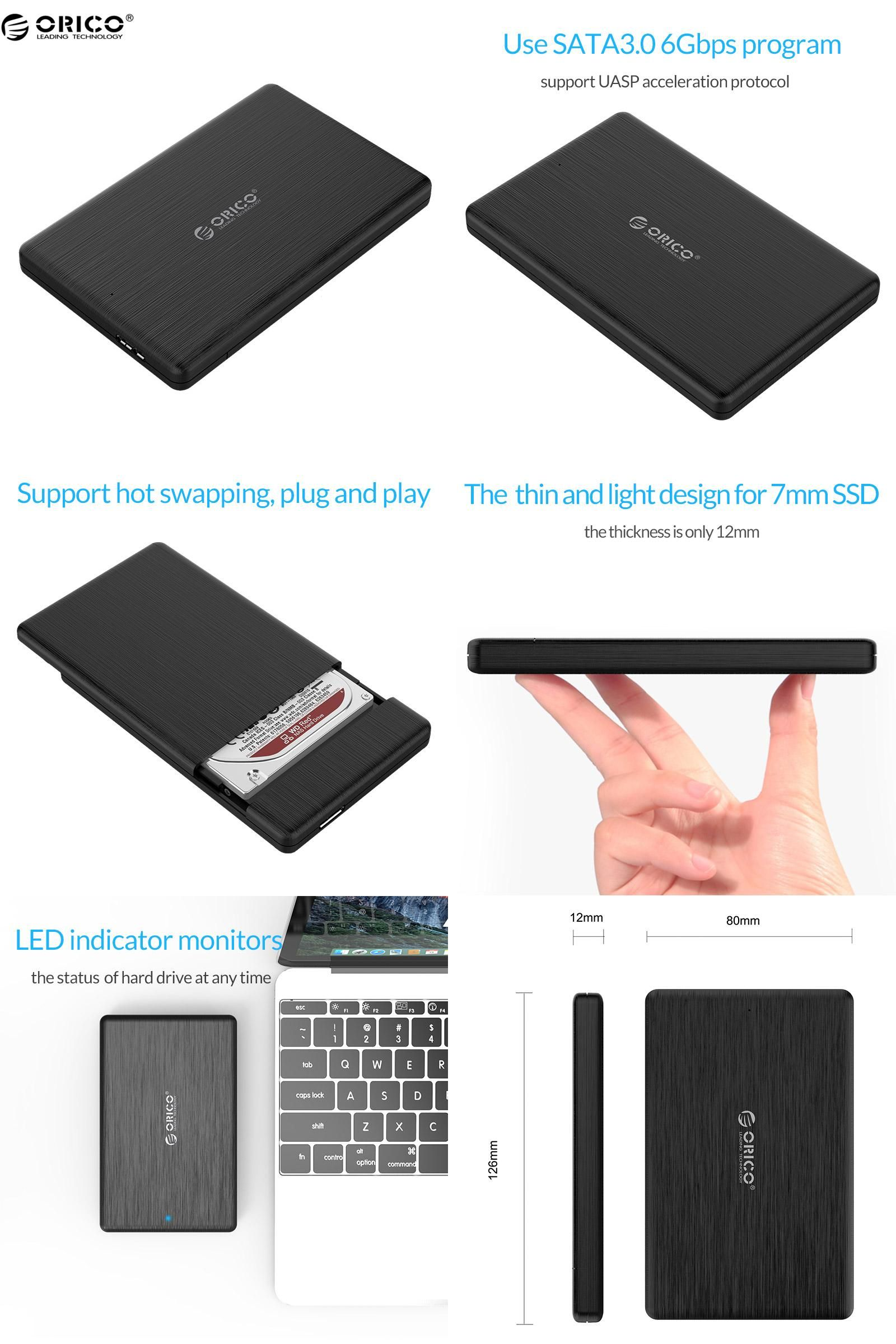 Visit To Buy Orico 2578u3 25 Inch Hdd Case Usb30 Micro B External Kabel Sata Iii Usb 30 For Ssd With Otg Function
