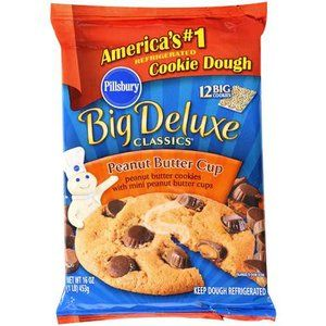 Pillsbury Ready To Bake Peanut Butter Cookies 12 Ct 16 Oz Walmart Com Peanut Butter Cookies Cookie Dough Peanut Butter Cookie Dough