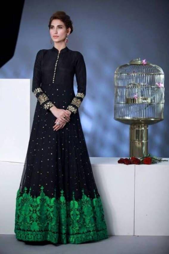 Rozina Munib Evening Wear Long Dresses Collection 2015