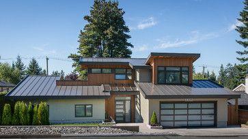 Pin By Jamie Bostain On Home Modern Exterior Modern Farmhouse Exterior Garage Door Design