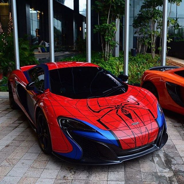 A Great Wrap With The Spider-Man Mclaren. P ZERO Tires