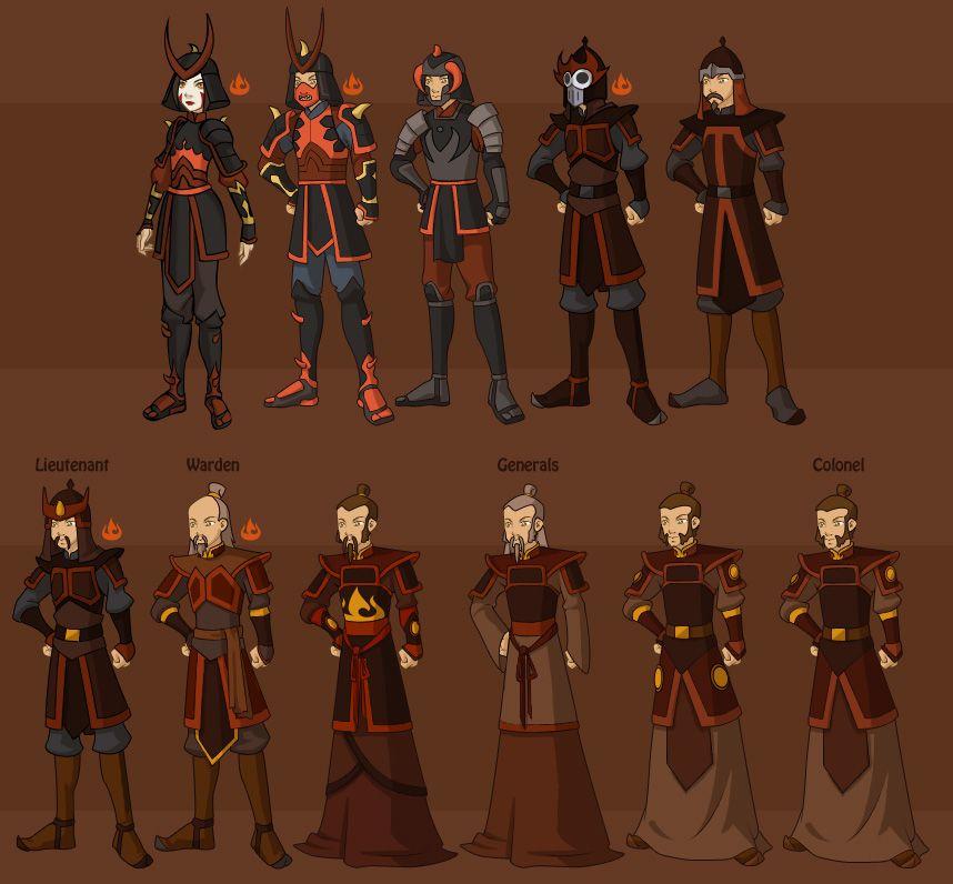 Team Avatar: Fire Nation Military By ~DressUp-Avatar On DeviantART