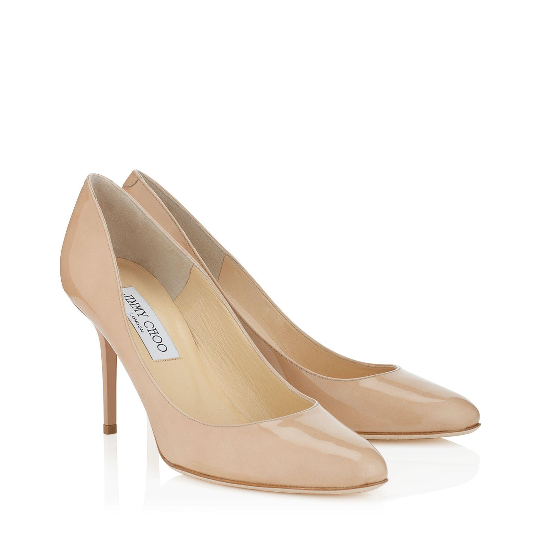 elegant nude patent leather round toe pumps gilbert jimmy choo rh pinterest co uk