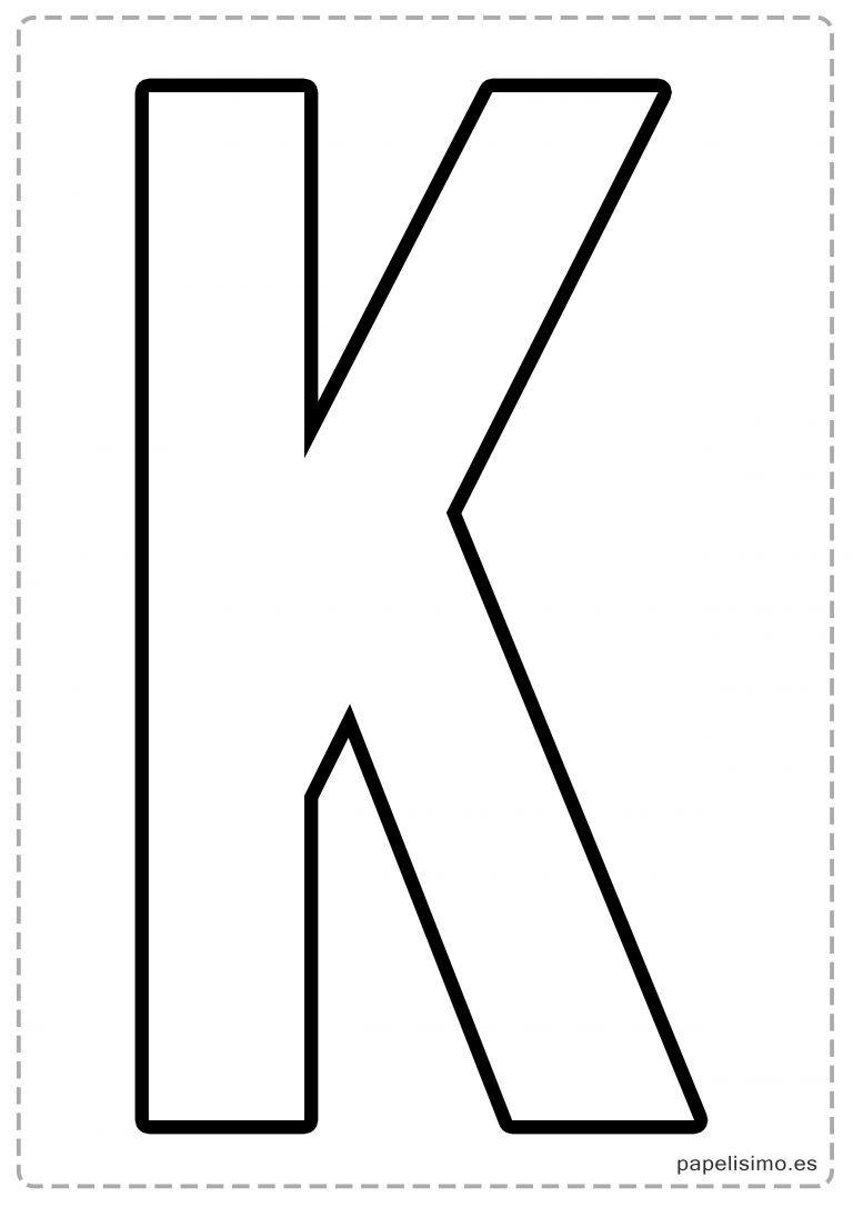 K letras para recortar y pegar guirnalda feliz cumpleaños | ABC ...