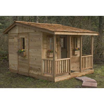 Cozy Cabin 9 X 7 Cedar Playhouse Maison En Bois De Palettes Theatre Exterieur Et Maison Pour Enfants Palettes