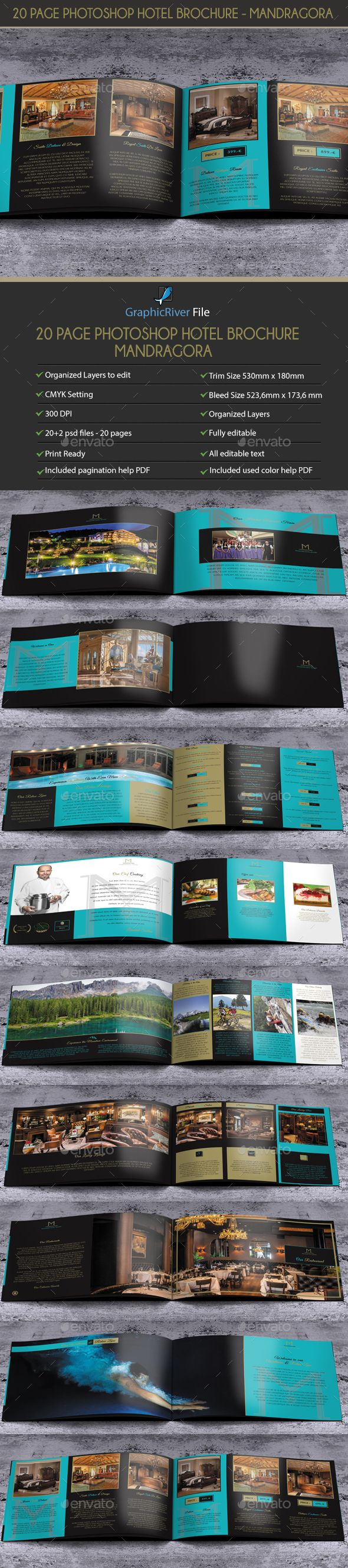 20 Pages PSD Hotel Brochure - Mandragora | Hotel brochure ...