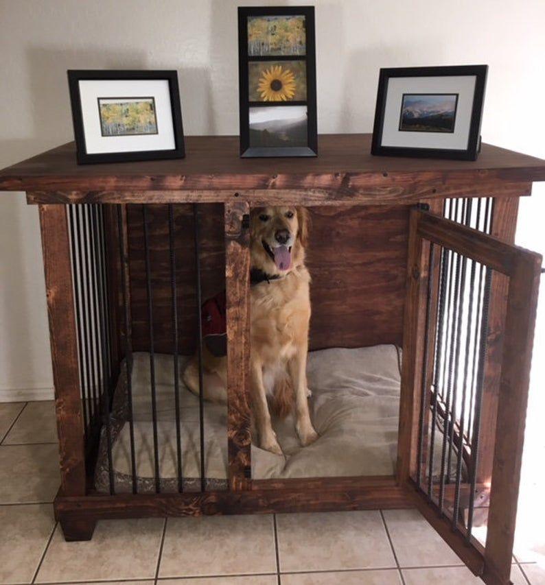Sgl Lg Dog Kennel Furniture Crate, Large Dog Furniture