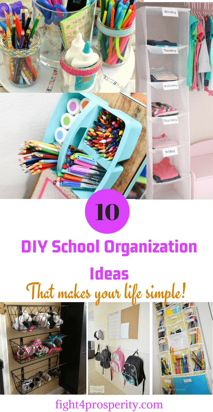DIY School Organization Ideas For Mamas  is part of School Organization Hacks - It's almost back to school time again! Learn easy DIY back to schoool organization ideas that will remove the clutter from your home
