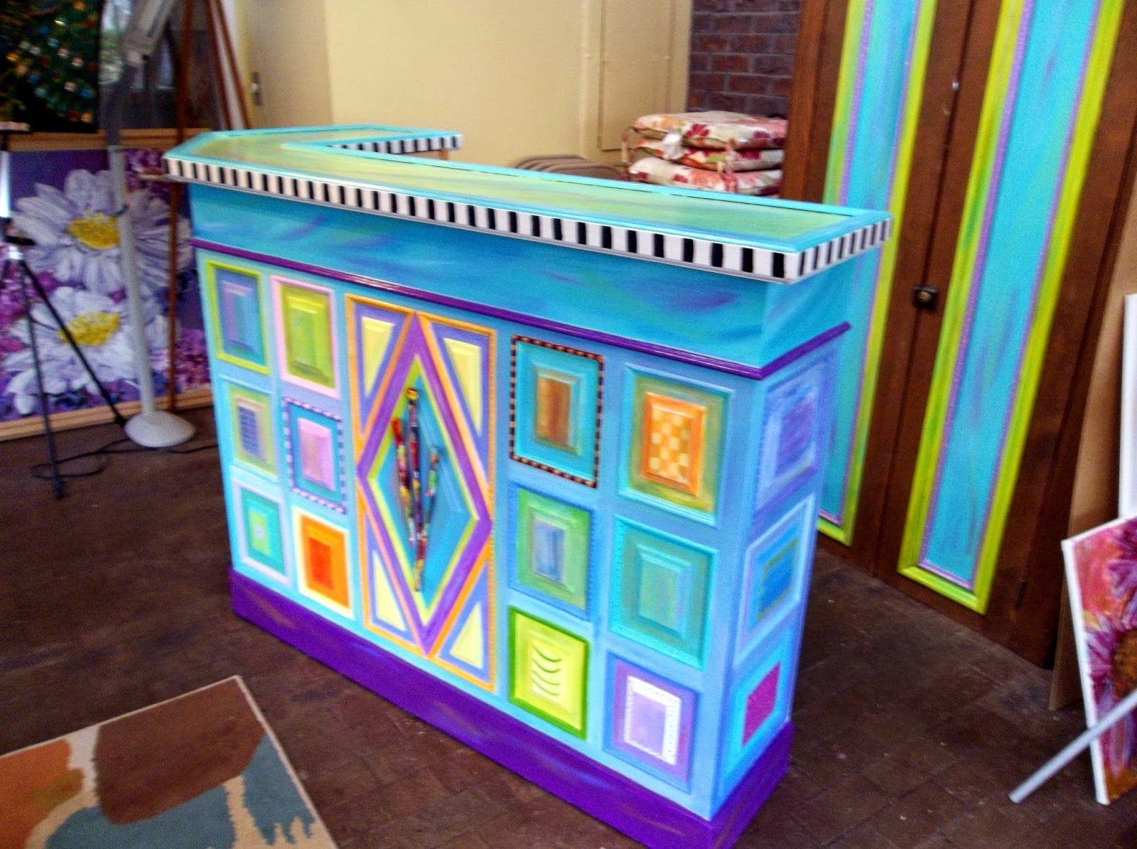 brightly painted furniture. Carolyn\u0027s Funky Furniture - Plain White Bar, Painted Brightly E