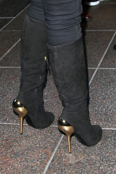 Alicia Keys Giuseppe Zanotti Stiletto Heel Boots