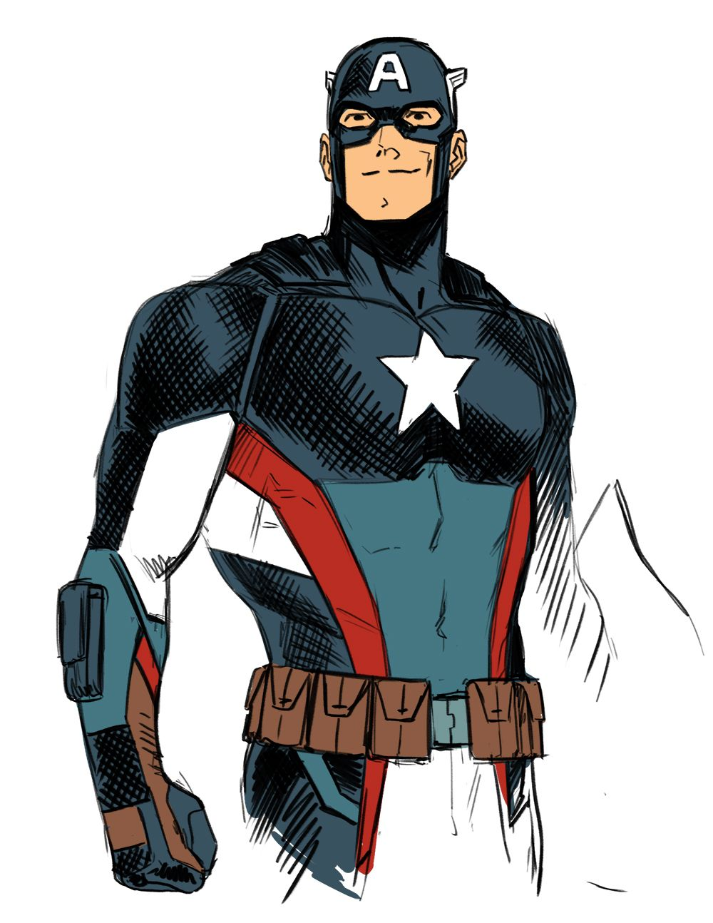 so theres a new steve rogers design, and i drew it (although i added the wings back to the helmet ssshhh).some of the details might be wrong because the promo image is tiny
