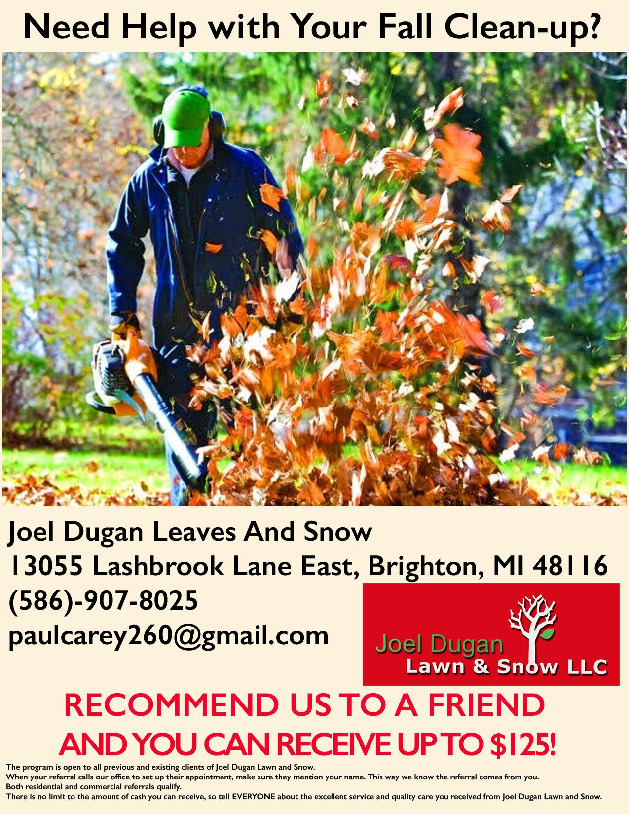 Pin By Megan Land On Landscape Markwting Fall Clean Up Fall Cleaning Clean Up Fall clean up flyer template