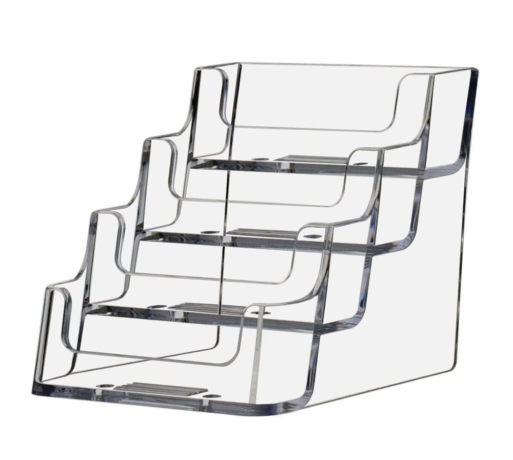 Qty 6 Counter Business Card Rack 4 Tier Gift Card Stand 4 Pocket ...