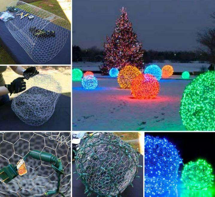Light balls DIY Pinterest Xmas and Craft