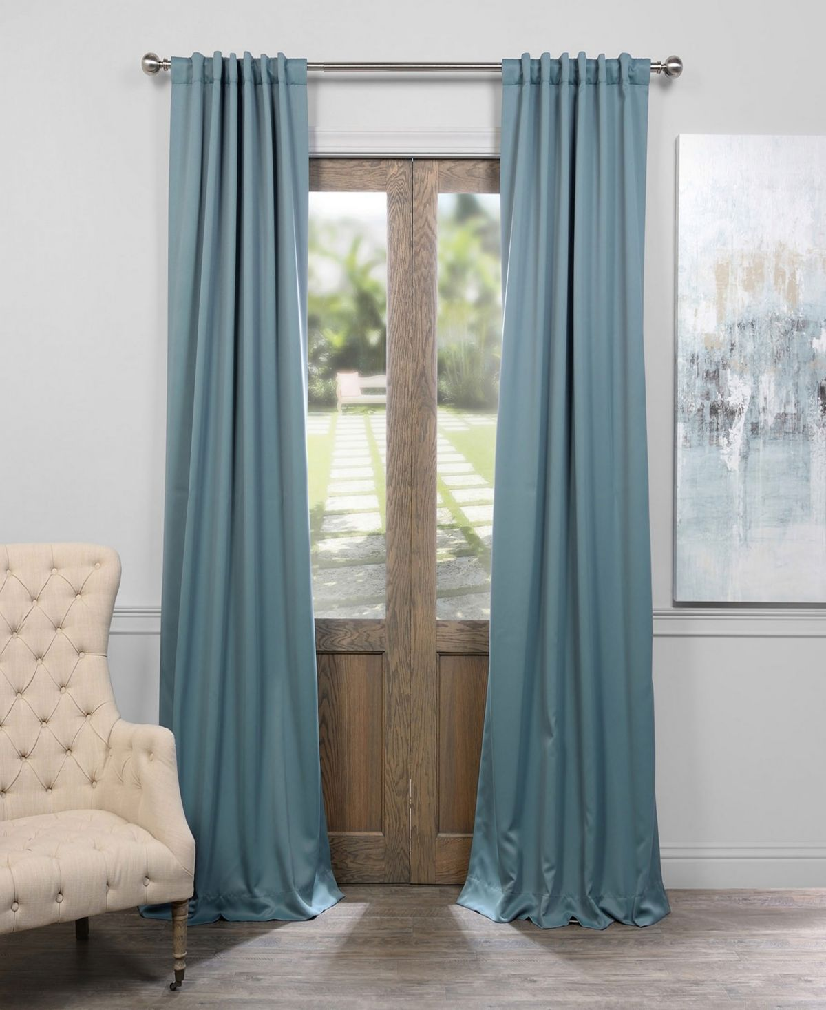 Exclusive Fabrics Furnishings Blackout 50 X 108 Curtain Panel