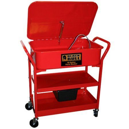 Black Bull 20 gal Portable Parts Washer, Red