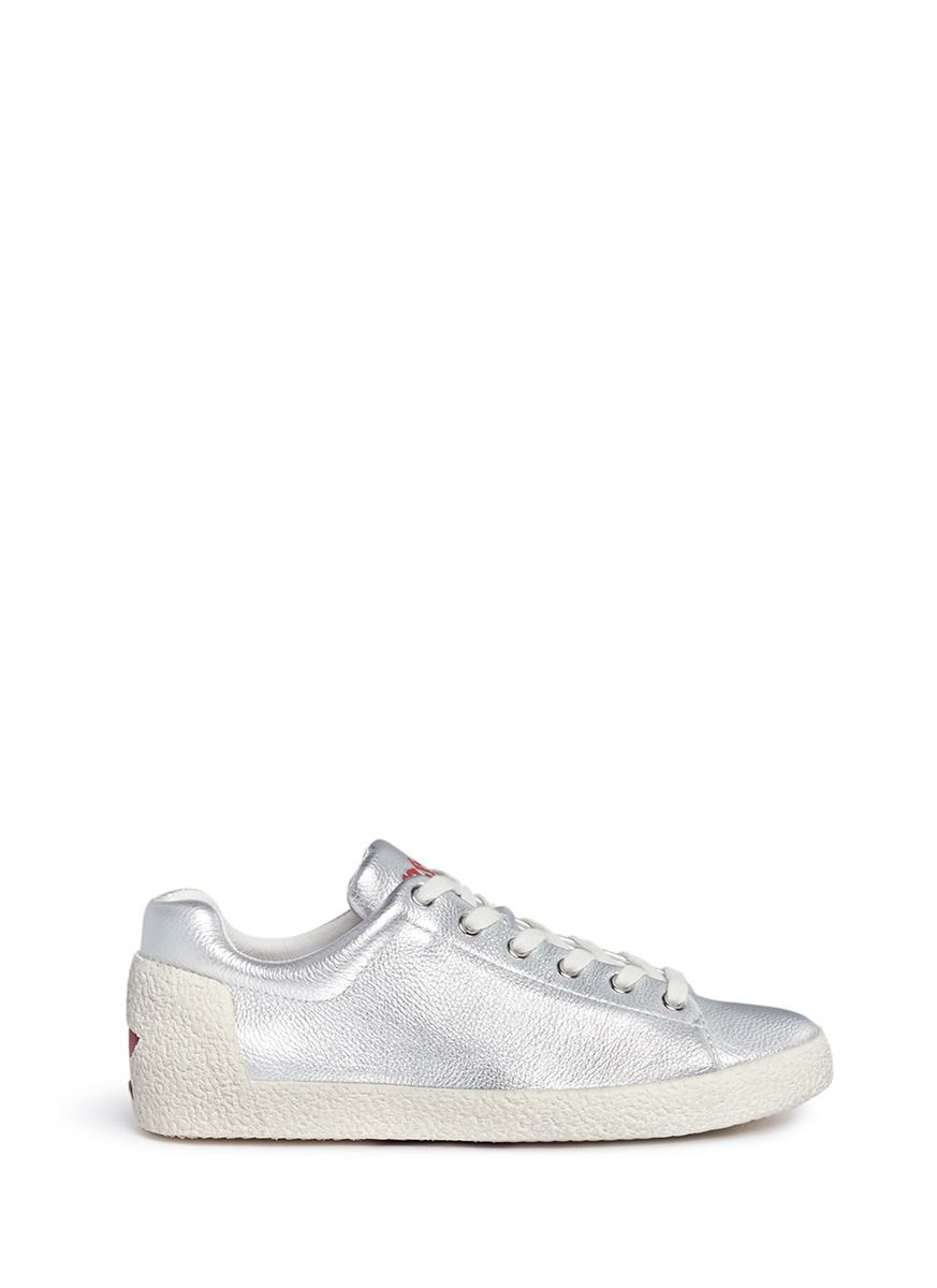 ASH 'Nicky' Metallic Leather Sneakers. #ash #shoes #sneakers