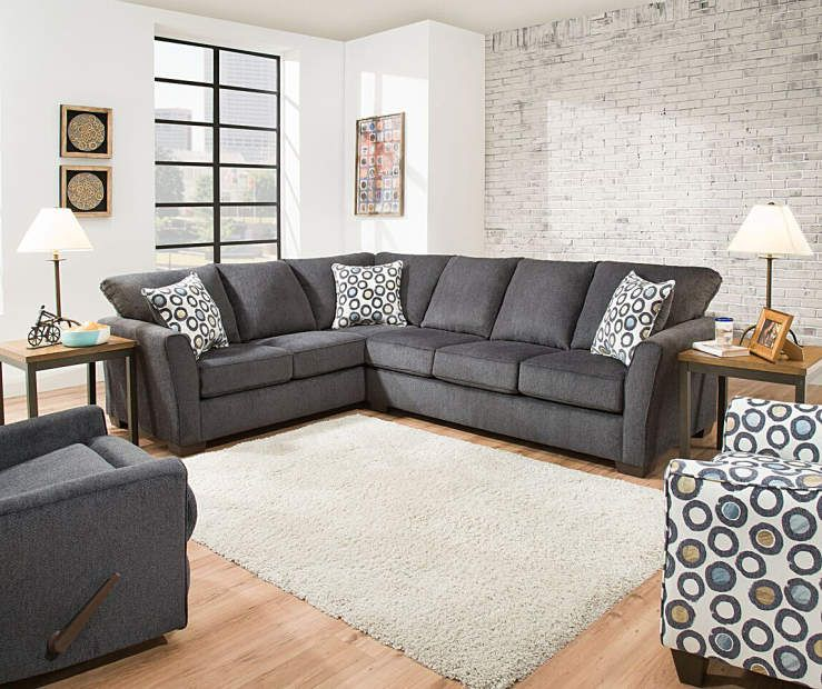I Found A Simmons Dawson Denim Living Room Sectional At Lots For Less Find More