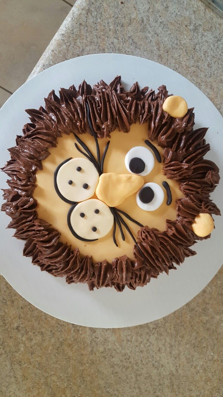 Lion Cake Nature Party Pinterest