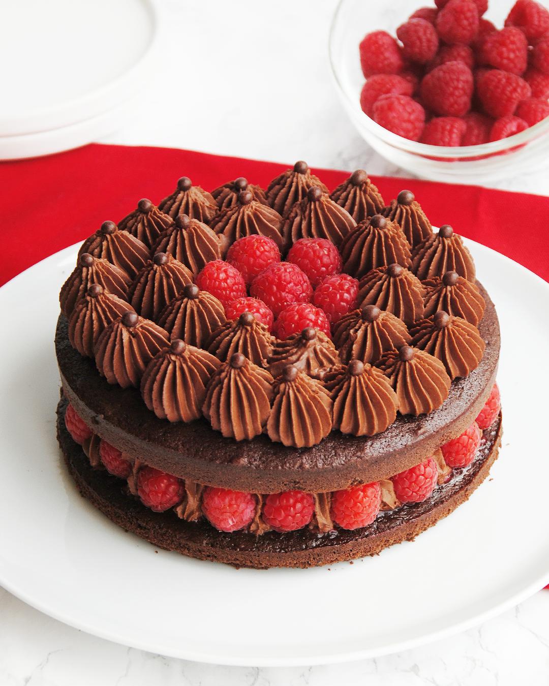 Layer Cake Chocolat Framboise Chocolat Framboise Gateau Chocolat Framboise Cake Chocolat